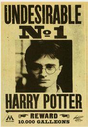 2019 pintura decorativa para crianças Poster do filme Harry Potter Retro Nostálgico Poster Indesejável No. 1 Quarto Poster Casa Pintura Decorativa Crianças Decoração do Quarto pintura decorativa para crianças barato
