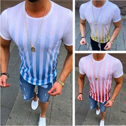 mens wholesale designer clothes Coupons - Wholesale 2019 mens designer t shirts summer clothes print striped simple casual short sleeve POLO shirt mens sports breathable T-shirts