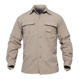 Camisa de los hombres de verano de secado rápido mangas desmontables camisas ejército militar camisas tácticas transpirable entrenamiento desgaste smmd desde fabricantes