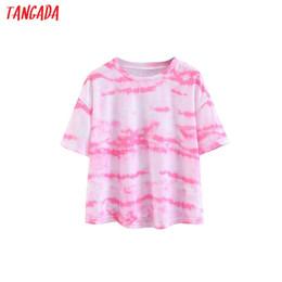 2019 модный галстук Tangada vogue футболка с принтом, окрашенная в корейскую одежду, с коротким рукавом, повседневная футболка, верхняя одежда, женская рубашка для летней уличной одежды SL173 дешево модный галстук