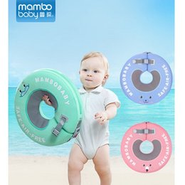 Anel de natação grátis on-line-Mambo Bebê Natação Anel de Pescoço livre Inflável Infantil Flutuante Crianças Acessórios de Piscina Nadar Círculo Banhado Anéis sólidos Brinquedo