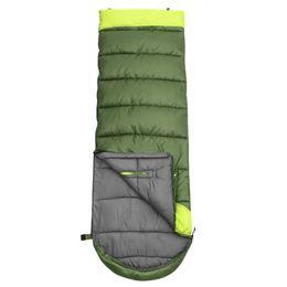 Algodón impermeable al aire libre online-Tipo de sobre Saco de dormir para acampar Impermeable Largo Adulto Exterior Mano Sin consolidar Engrosamiento Empalme Algodón individual