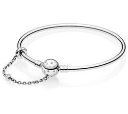 grossistas pulseiras magnéticas para homens Desconto Original prata esterlina 925 edição limitada momentos verdadeira exclusividade fecho pulseira pandora bangle fit bead charme jóias diy