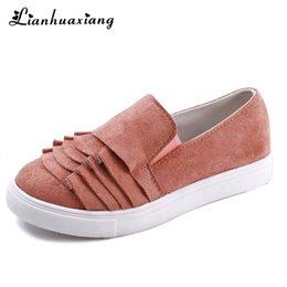 4ddd33086 2019 mulher sapatos baixos china 2019 Mulheres Casuais Sapatos Baixos  Plissado Slip-On Sapatos Mocassins