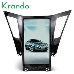 """Lecteur multimédia hyundai en Ligne-Krando android auto radio 6.0 13.6 """"dvd de voiture à écran vertical multimédia pour hyundai sonata 8 2010-2014 gps navigation player"""