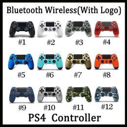 Jugar a la estación de juego online-Mando inalámbrico Bluetooth PS4 para PS4 Vibración Joystick Gamepad PS4 regulador del juego para Sony Play Station Con caja al por menor