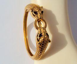 2019 bracciali di agata gialla Fashion Jewelry Bangles leopardo occhi neri 22 23K 24K Thai Baht giallo Solid Gold Jewelry GP BRACCIALI Heavy 43G BA18 bracciali di agata gialla economici