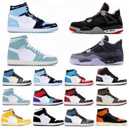 2019 kevin durant scarpe da basket basse 4 4s Cemento Nero Che Il 1 1s Travis Scotts Grey Mens scarpe da basket UNC Bred 11 11s Concord Uomini Sport Sneakers