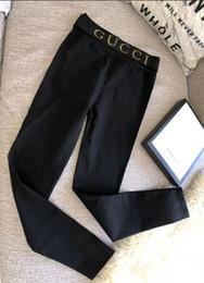 le ragazze del pantyhose del hip hop Sconti G ** 2018 Designer donne Matita Pantaloni S-XXXL più le lettere Size di lusso in corso matita delle ghette dei pantaloni Streetwear Yoga Legging