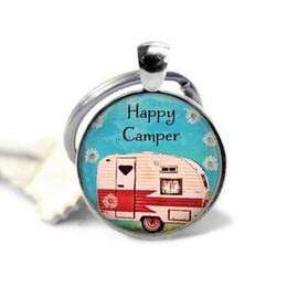 Joyeux bijoux en Ligne-2018 nouveau joyeux camper en alliage porte-clés joyeux camping bijoux voyage en camping camping pendentif porte-clés charme cabochon cristal porte-clés