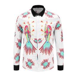 Männer tanzhemden online-Tanzmädchen Hemd Business-Himmel-Feuerwerk der Männer Nachthemden Langarm-Menshemden beiläufige dünne Sitzkleidung camisa masculina