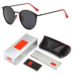 2019 moderne sonnenbrille 2019 Modern Vintage Round Metal Style Polarisierte Sonnenbrille Red Nose Pad 3602 Brand Design Sonnenbrille Oculos De Sol mit Logo und Box günstig moderne sonnenbrille