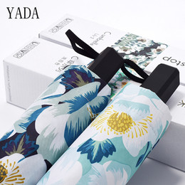 lily fabrics Coupons - YADA New Custom lily Charms Umbrella Rain Women uv High Quality Umbrella For Womens Girl Brand Windproof Folding Umbrellas YS321