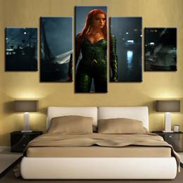 Deutschland Wand-Kunst-Malerei Home Decor Modular Leinwand HD Drucke 5-Panel-Superheld Aquaman Justice League Film God Of War Bilder Poster cheap justice league painting Versorgung