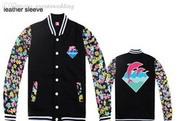marca de vestuário dolphin Desconto Queda-Men Jackets Pink Dolphin fleece outerwear Coats marca Men s roupas de inverno jaqueta de hiphop outono Vestuário