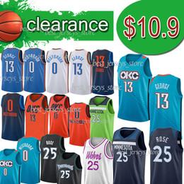 трикотаж для t Скидка 13 George Minnesota 25 Трикотажные изделия Rose Clearance 25 Derrick ncaa 0 Westbrook basketall jersey 2018 мужские дизайнерские футболки