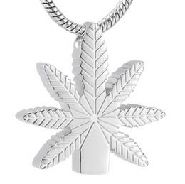 2019 gedenkschmuck für frauen LKJ9992 Engravable Pflanze Blattform Memorial Feuerbestattung Halskette für Frauen, Edelstahl Asche Halter Andenken Schmuck günstig gedenkschmuck für frauen