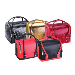 2019 cosméticos unhas sacos Caso cosmético grande profissional, coreano caixa de ferramentas de mala aberta dupla, saco de Prego Mala, saco cosmético, TAMANHO: 30 * 24 * 25 CM cosméticos unhas sacos barato