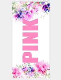 2019 toalla rosa de gimnasia Gran microfibra carta rosa manta suave toalla de playa estera de yoga manta de viaje hombre mujer gimnasio piscina camping cara toalla de mano 70 * 140 cm DHL toalla rosa de gimnasia baratos