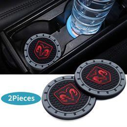 2 Pcs 2.75 polegadas Car Interior Acessórios Anti Slip Cup Mats para Dodge de Fornecedores de arroz rápido