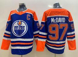 New Oilers Jerseys  97 Mcdavid Jersey New Hockey Jersey Blue Orange White  Color C Patch Size S-XXXL Mix Order High Quality All Jerseys 0eb2f16b2