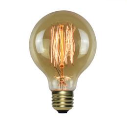bombilla incandescente de tungsteno Rebajas G80 E27 Enchufe 220V ~ 240V 40W Lámpara Alambre de tungsteno Edison Bombilla clásica Bombillas Edison Tornillos incandescentes Bombillas de filamento para lámpara de luz colgante