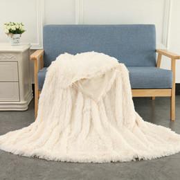 lanças de pele Desconto Super Macio Difusa Cobertor De Pelúcia Desjejum Cobertor de Pelúcia Quente Longo Faux Fur Cobertor Cobertura de Cama para o Quarto Sofá Chão 130x160 cm
