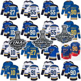 Хоккейная триас онлайн-2019 Джерси Стэнли чемпионов Сент-Луис Блюз 90 О'Райли 50 Binnington 17 Schwartz 55 Parayko Schenn 91 Тарасенко хоккей
