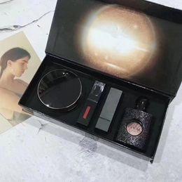 Argentina Maquillaje Marca Configurar Perfume 30ml del lápiz labial de Lipgloss del amortiguador de aire 4 en 1 kit de cosméticos Suministro