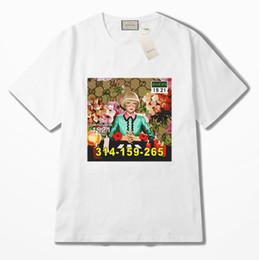 c011eba58018d0 Sommer luxus europa frauen gedruckt mädchen muster rundhalsausschnitt t-shirt  hochwertige baumwolle mode t shirts designer frauen casual kurzarm