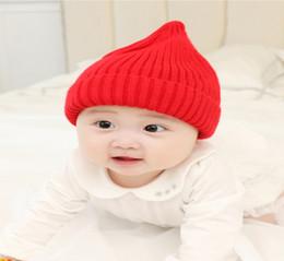 Bonnet bébé automne et hiver nouvelle version coréenne bonnet tricoté  bonnet mignon bébé et garçon bonnet de laine épaisse bonnet fœtal néonatal 013066fa98a