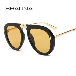 88fefbef0f9 SHAUNA Fashion Pilot Sunglasses Women Brand Designer Metal Nail Decoration  PC Frame Sun Glasses Shades Men