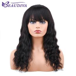 le parrucche frontali del merletto rimangono Sconti Parrucche dei capelli umani di pizzo anteriore di Beaudiva con scoppi per le donne Parrucca di pizzo nero 150% di onde del corpo pre pizzicato capelli brasiliani di remy