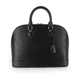 Bolsa de ondinhas de água on-line-2018 alta qualidade celebridade estilo EPI Designer marca de moda ALMA couro genuíno médio mulheres bolsas bolsa de ondulação da água