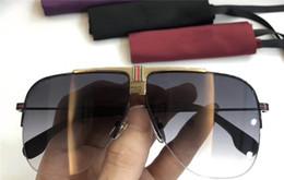 Wholesale new fashion designer uomo occhiali da sole 1094 metallo piloti telaio gambe in legno uv400 occhiali polarizzati protezione stile vintage top da
