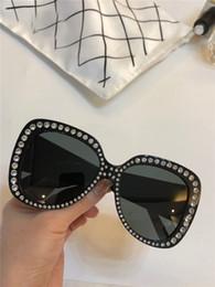 2019 алмазные кейсы новые женские солнцезащитные очки 5188 квадратная рамка большой дизайн моды Алмаз bling bling рамка UV400 объектив высокое качество с case дешево алмазные кейсы