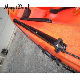 2019 montagem em trilho de alumínio MagiDeal Alumínio 60 cm Longo Marine Boat Canoe Kayak Rail Mount Base de Suporte para Barco Inflável Com 4 Parafuso DIY Acessório Preto montagem em trilho de alumínio barato
