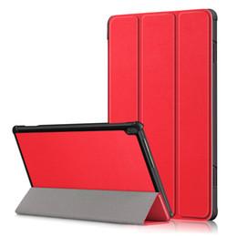 Rosa lenovo tablet fall online-Ultra Slim Ganzkörper-Standplatz-Lederkastenabdeckung für Lenovo Tab M10 TB-X505 TB-X605 10.1 Tablet Schutzhülle Beutel