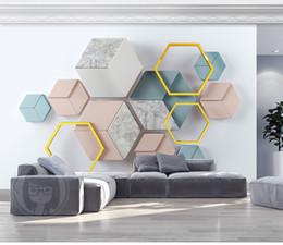 Deutschland Benutzerdefinierte moderne minimalistische geometrische Marmor-Wohnzimmer-Schlafzimmer-Hintergrund-Wand-Dekoration-Wandbild-Tapete der Tapeten-3D Versorgung