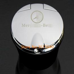 auto licht zubehör Rabatt 3 Farben Marke Neue Auto Aschenbecher Müll Lagerung Tasse Container LED-Licht Zigarre Aschenbecher für Mercedes Benz Car Styling Zubehör