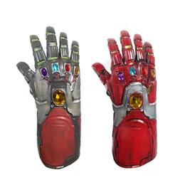 Guanti supereroi online-Avengers 4 Endgame Iron Man Guanti in lattice Infinity Gauntlet Hulk Braccio Cosplay Thanos Marvel Superhero Armi Puntelli per feste Novità Giocattoli LJJA2334