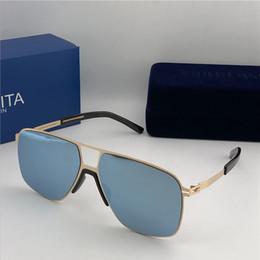 f35dfa0cdc new mykita sunglasses ultralight frame without screws MKT OAK square frame  top men brand designer sunglasses coating mirror lens