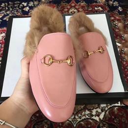 2780d2707d2f9d Femmes Marques Wok Real Pantoufles De Fourrure Dames D'été Occasionnels  Chaussures Mules Chaussures Pantoufles Extérieures Talons Bas Chaussures  Femmes ...
