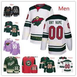 2019 billige authentische nhl hockey trikots 2018 benutzerdefinierte Minnesota Wild Coyle Spurgeon Suter Parise Koivu Zucker