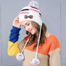 909b6225 Women Tie-dyeing Plain Wool Hat Button Three Hair Ball Knit Hat Velvet  Thick Winter Casual Hat Cap