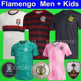 Calcio femminile online-CR Flamengo 2019 2020 Série A maglie da calcio BRUNO HENRIQUE CONMEBOL Maglie calcio Libertadores donna rosa RIBEIRO DIEGO kit bambini WILLIAN ARÃO DE ARRASCAETA REINIER LINCOLN