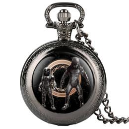 Ожерелье кулон конструкций мужчин онлайн-Masculine Necklace Men's Creative Design Pocket Watch Alien Patterns Quartz Pocket Watch Analog Pendant for Men Women