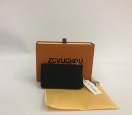 2019 bolsa estilo caixa França estilo Designer bolsa de moedas homens mulheres senhora bolsa de moedas de couro carteira chave mini carteira número de série caixa saco de poeira bolsa estilo caixa barato