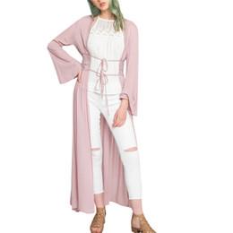 Argentina Kimono de encaje Cardigan Casual Vintage Mujer Tops Abrigos 2018 Primavera de manga larga Cover Up Lady Loose Lace up Abrigos Boho Feminina # 40 cheap vintage boho coat Suministro
