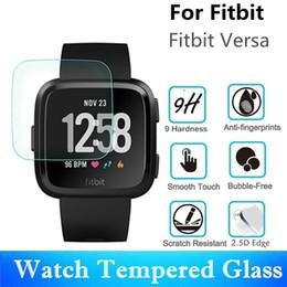 2019 защитный экран 10 ШТ. Закаленное Стекло Для Fitbit Versa Smart Watch Протектор Экрана Царапинам Квадрат Защитная Пленка дешево защитный экран
